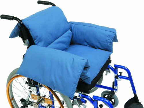 Drive Medical Rollstuhlpolster in T-Form, Blau - RT-CU009