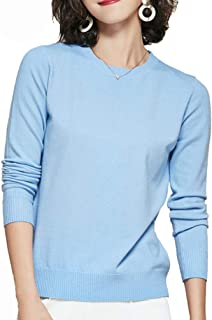 Panreddy Women's Crewneck Knit Light Weigth Pullover Sweater