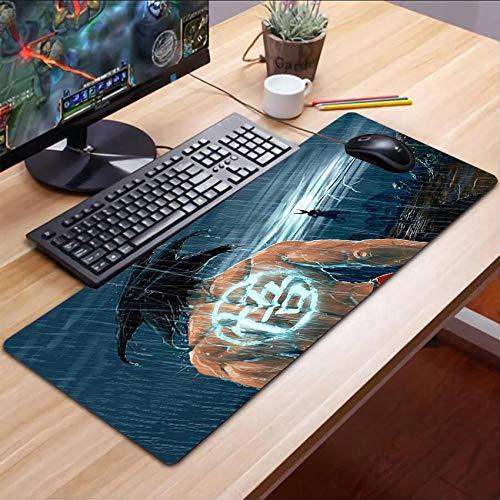 Alfombrillas de ratón,Anime Juego Dragon Ball Z Goku Extendido Almohadilla para Computadora Portátil Almohadilla para Escritorio De Pc Velocidad Borde De Bloqueo Antideslizante Mejora La Precisión L