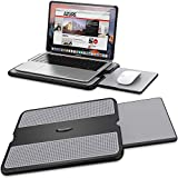 AboveTEK Portable Laptop Lap Desk w/Retractable Left/Right Mouse Pad Tray, Non-Slip Heat Shield...