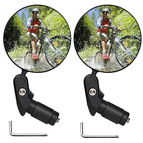 Leikedun 1 Paar,360°Vestellbarer Rückspiegel für Lenker Bild