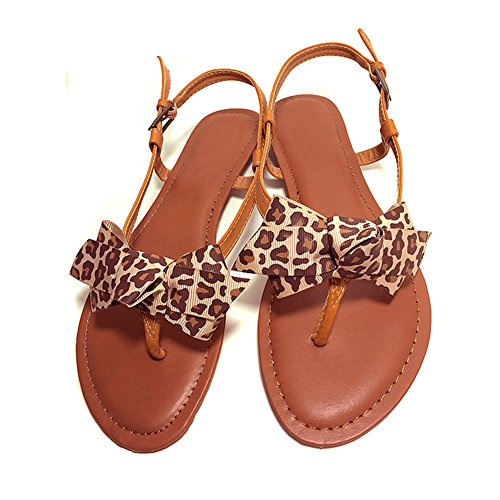Douqu 1 Pair New Leopard Animal Print Ribbon Shoe Clips Retro Bows 3.15inch Vinitage Style Cute Shoe Charms for Women (Leopard)