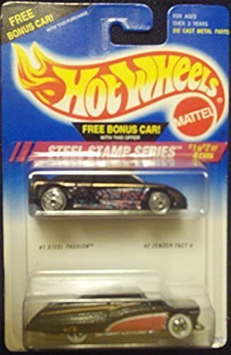 Hot Wheels Steel Stamp Series 2 Pack Steel Passion and Zender Fact 4 by Hot Wheels