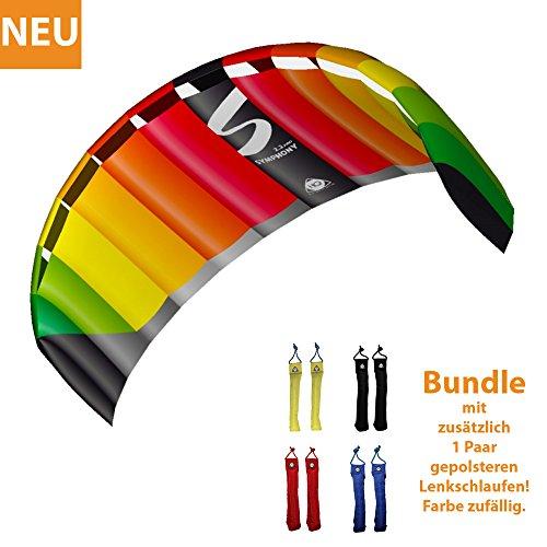 HQ Lenkdrachen Lenkmatte Drachen Symphony Pro 2.2 Rainbow Bundle Kite