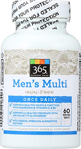 365 Everyday Value, Men's Multi Iron-Free, 60 ct
