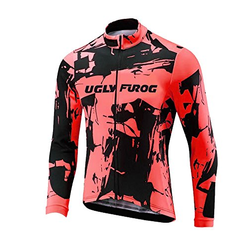 Uglyfrog Nuevos Diseños Manga Larga Maillot Ciclismo De Fleece Warm Ropa De Triatlon Transpirables Ropa Bicicleta Hombre Invierno ESHSJ64