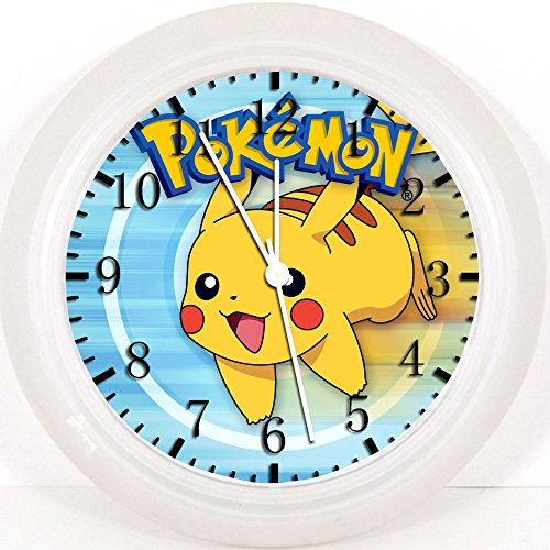 Pokemon Pikachu reloj de pared 10'será bonito regalo y decoración de la habitación Pared Z44