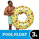 BigMouth Inc Giant Inflatable Snack Party Pool Tube - Hilarious 3 Foot Inflatable Pool Float, Easy to Wipe Down, Inflate/Deflate, Transport, and Store - Perfect for Pool Parties and Beach Days