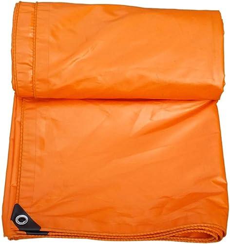 Bache Bache extérieure de Toile d'auvent de Parasol de bache de Prougeection du Soleil, bache imperméable épaisse, Camping et randonnée (Couleur   Orange, Taille   5  5M)