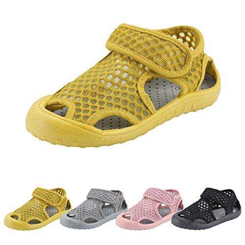 Sandalias Deportivas para Bebé Qimaoo Sandalias Punta Cerrada para Bebé Malla Transpirable Sandalias de Playa de Verano Zapatillas para Bebé