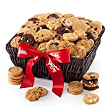 Mrs. Fields Cookies Large 120 Nibblers Bite-Sized Cookies Basket - Includes 5 Different Flavors