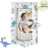 Brandream Baby Nest Bed Dinosaur, Baby Lounger Portable Newborn Bassinet Crib for Travel/Bedroom Perfect for Co-Sleeping (Dinosaur) 100% Cotton Breathable & Hypoallergenic, Baby Shower Gift