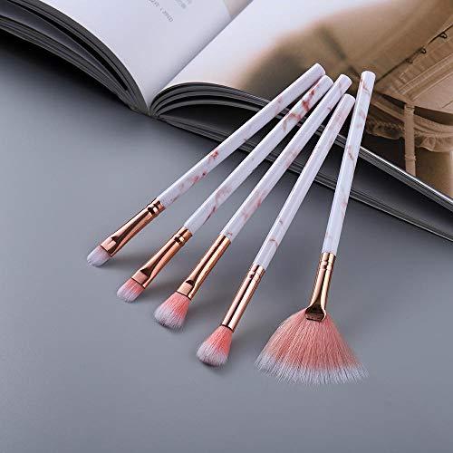 15pcs pinceaux de maquillage ensemble d'outils poudre cosmétique ombre à paupières fondation fard à joues mélange beauté maquillage pinceau-Oeil 5pcs rose