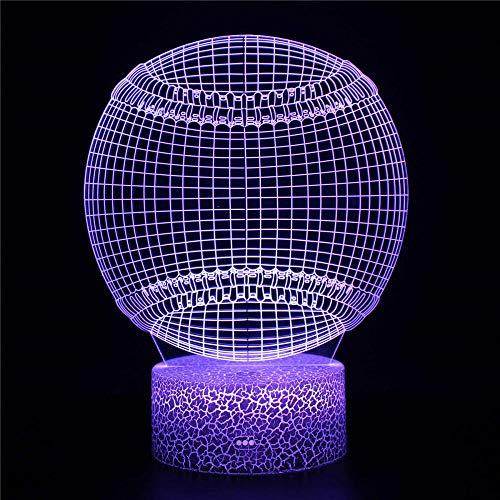 Lámpara de ilusión 3D para niña, bola de Navidad, acrílico, 16 corazones de amor, ambiente romántico, escritorio, decoración de boda, pareja amante regalo de Navidad