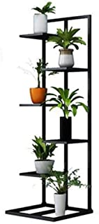 HTTSC Flower Rack Plant Stands 5-Tier Iron Flower Stand for Living Room Balcony and Fashion Indoor/Outdoor Corner Shelf Me...