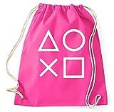 Styletex23 Gaming Buttons Gamer Turnbeutel Sportbeutel, pink