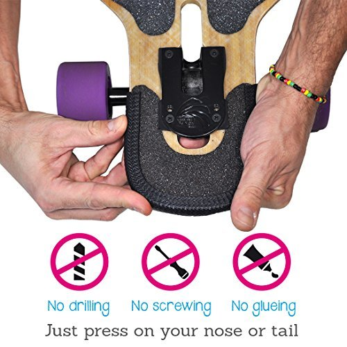 Hellmet Longboard Nose Guards - Kantenschutz - Guard - perfekter Schutz für dein Deck - passt für jede Board Grösse - schwarz - 9-12 mm