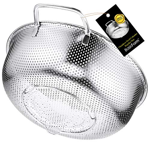 BasicForm Colador microperforado con mango y base de acero i