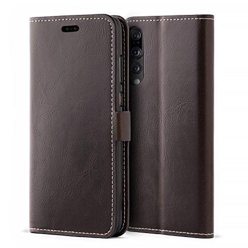 Mulbess Handyhülle für Huawei P20 Pro Hülle Leder, Huawei P20 Pro Handytasche, Flip Schutzhülle für Huawei P20 Pro Hülle, Kaffee Braun