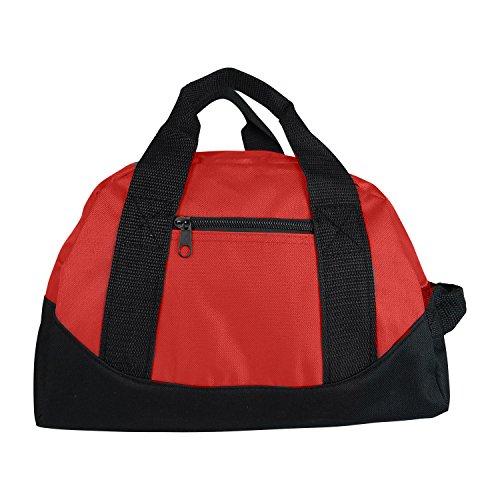 Mini-Sporttasche, Reisetasche, Handgepäck, 30,5 cm, Königsblau, Rot, Gelb, rot (Rot) - 722851881880
