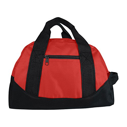 Mini Sporttasche / Reisetasche, 30,5 cm, Königsblau, Rot, Gelb, rot (Rot) - 722851881880