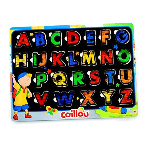 Caillou A-to-Z Bilingual Learning Wood Puzzle