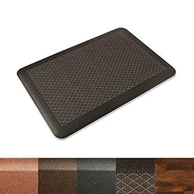 Kitchen Mat | Anti Fatigue Mat, 3/4 Thick | Ergonomically Engineered, Non-Slip, Waterproof | 20 x39  - Dark Brown