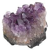 Cristal de Amatista, Piedra de Decoración Racimos de Cristal de Cuarzo Amatista Natural, Decoración Del Hogar de Piedra, 10 * 8.5 * 6cm