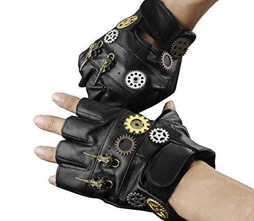 mens steampunk gloves