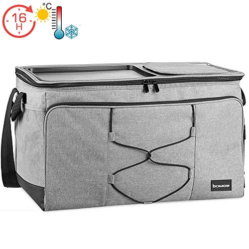 bomoe 52 Liter XXL Kühltasche groß faltbar IceBreezer KT53 - Outdoor Kühlbox Isoliertasche für unterwegs - 53x37x32 cm - Auch als Picknicktasche Thermotasche nutzbar – Perfekter Lebensmitteltransport