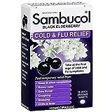 Sambucol Cold & Flu Relief Quick Dissolve Tablets, Black Elderberry 30 ea (Pack of 12)