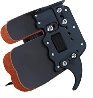 Huntingdoor Archery Leather Finger Tab Protector Finger Saver Cow Leather Shooting Tab Right Hand for Recurve Bow(Pack of 1)