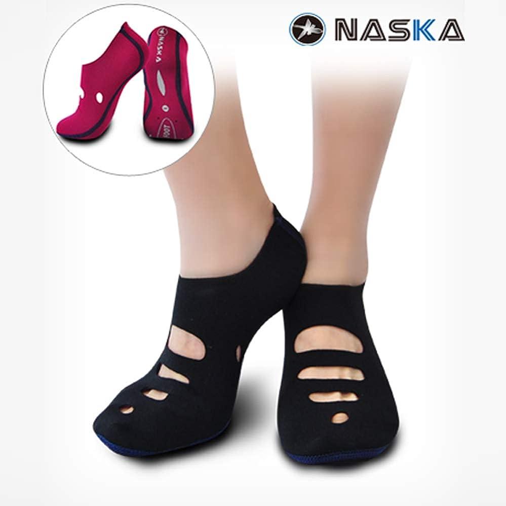 印象お互いレーザNaskaFoot かかとケア かかとサポーター 両足用 角質ケア かかと靴下 角質ケア、保温、保湿を一つにした多機能ソックス 潜水服素材のネオプレン使用 弾力性と柔軟性に富んだ靴下 両面使用