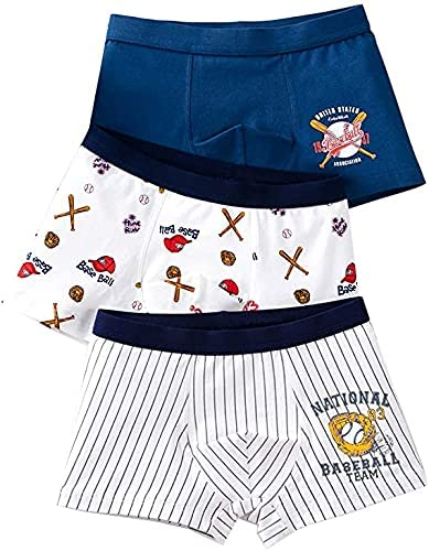 ENDIRAD Little Boys' Soft Cotton Briefs Underwear Toddler Undies Baby 3 Packs Shorts Panties - Baseball Cap Sport
