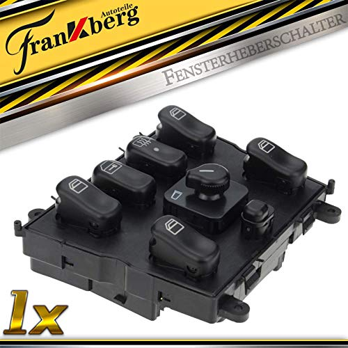 Frankberg Fensterheber Schalter Vorne Mittelkonsole für M-Klasse W163 ML230 ML270 ML320 ML350 ML400 ML430 ML500 ML55 AMG SUV 1998-2005 A1638206610