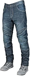 Speed and Strength Rust and Redemption Men's Armored Moto Street Motorcyle Pants - Blue / Size 34X34