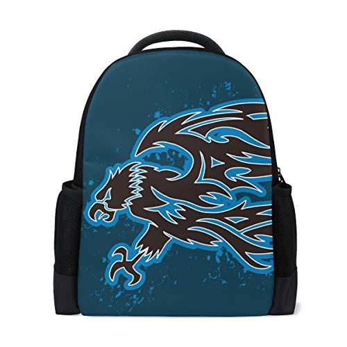 FANTAZIO Mochila Eagle Seal Illustration mochila escolar