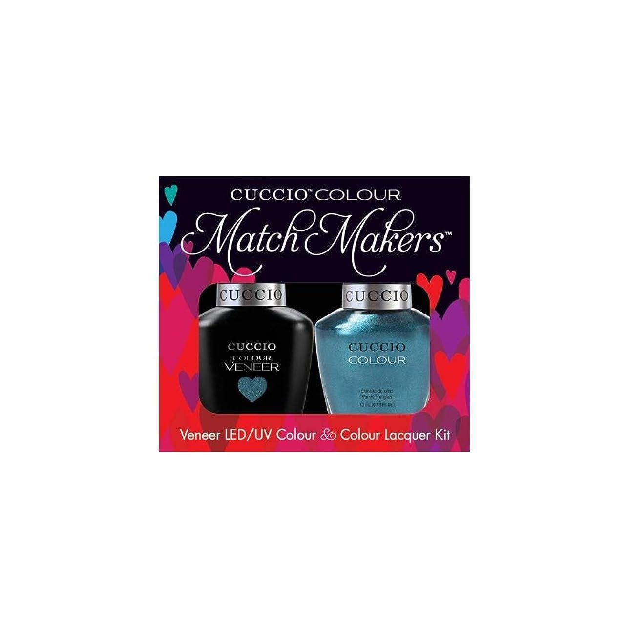 靄踊り子気体のCuccio MatchMakers Veneer & Lacquer - Dublin Emerald Isle - 0.43oz / 13ml Each