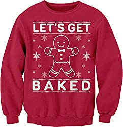 ShirtInvaders Let's Get Baked Ugly Christmas Cookie Sweater