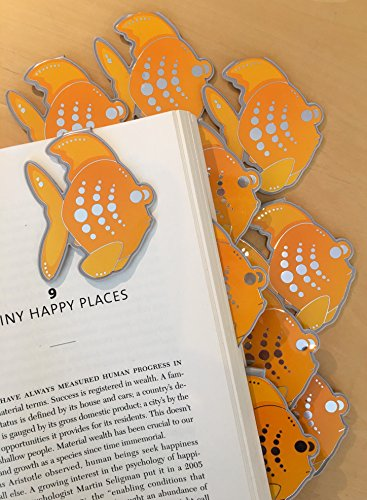Fish Bulk Bookmarks Clip Over The Page (Set 10) Bookmarks for Kids Girls Boys. Perfect for School Student Incentives – Birthday Party Supplies – Reading Incentives - Party Favors - Classroom Award