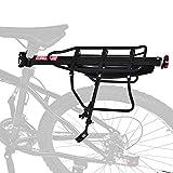 Cocoarm Portapacchi per Bicicletta, Portapacchi Posteriore per Bicicletta, Portabici Regolabile