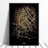 Leinwand Bild, Wiener Stadtlichtkarten Benutzerdefinierte