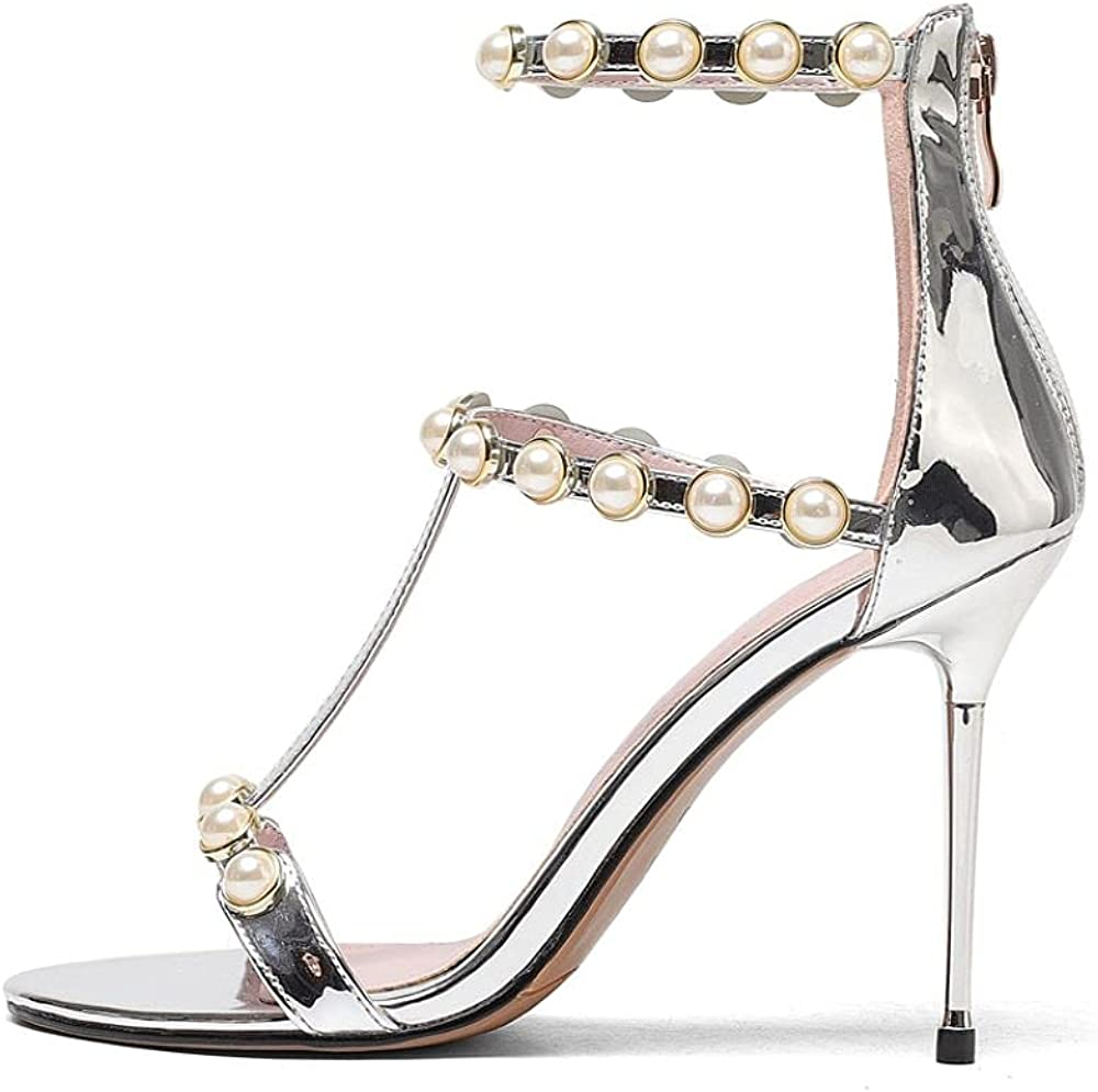 Summer 2021 new stiletto heels gold and Inventory cleanup Easy-to-use selling sale sandals rivet silver iro