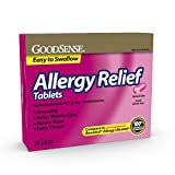 Goodsense Allergy Relief 25mg Diphenhydramine Hcl Allergy Tablets, 24Count Allergy Pills