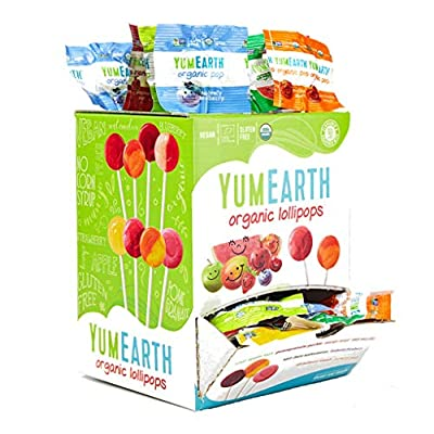 100 organic yum earth assorted fruit lollipops in dispensing gift box (100 x 6g) 100 Organic Yum Earth Assorted Fruit Lollipops in Dispensing Gift Box (100 x 6g) 51EJF6 bacL