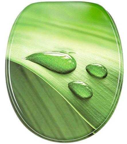 Abattant WC Frein de Chute Soft Close - Finition de Haute qualité - Fixation Facile (Feuille Verte)