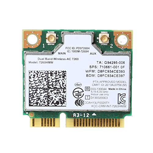 Ontracker - Tarjeta WLAN para Int-EL AC7260 7260HMW AC Mini PCI-E 2,4 G/5 GHz adaptador WiFi