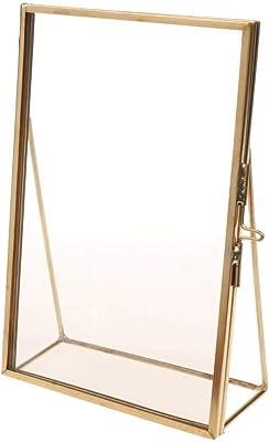 NAHASU | Frame | Simple Antique Rectangular Freestanding Transparent Glass Photo Frame for Home Decoration |