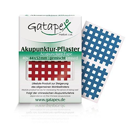 Gatapex Akupunktur-Pflaster (Größe L) 4,4 x 5,2cm farbmix 40 Stück