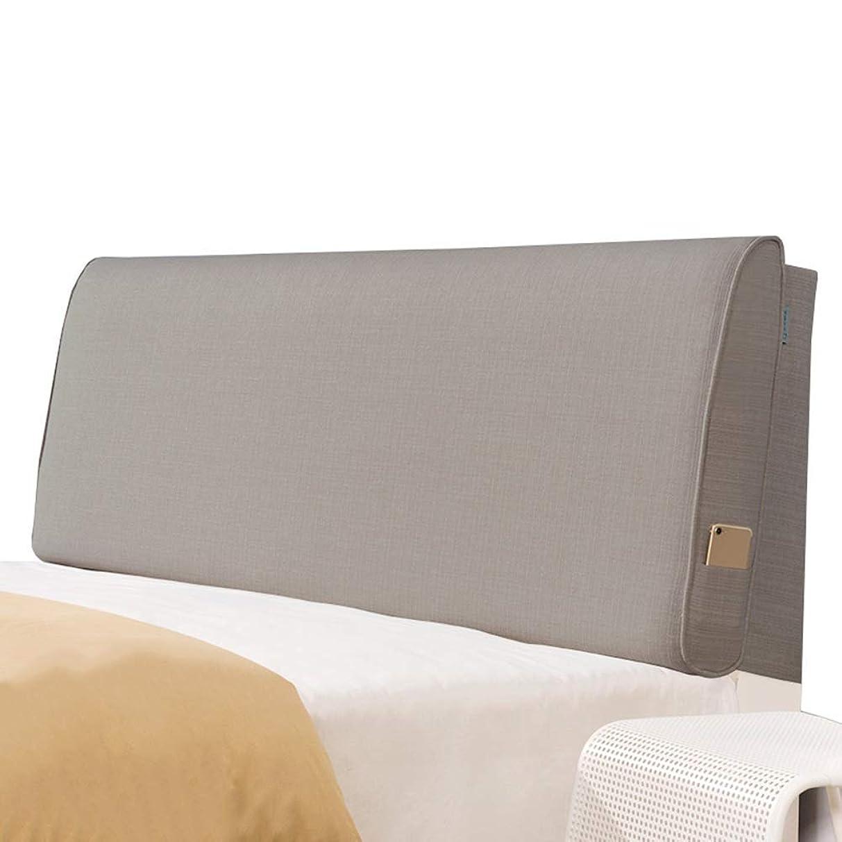 フィッティング請願者学習者WZBヘッドボードクッション衝突防止枕亜麻通気性快適で快適なウエストをサポート、5サイズ、6色(色:A-茶色、サイズ:120x60x10cm)